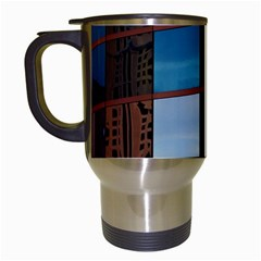 Glass Facade Colorful Architecture Travel Mugs (White)
