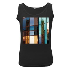Glass Facade Colorful Architecture Women s Black Tank Top