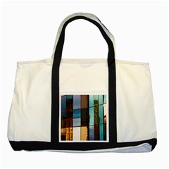 Glass Facade Colorful Architecture Two Tone Tote Bag