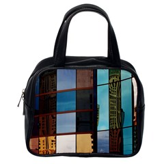 Glass Facade Colorful Architecture Classic Handbags (One Side)