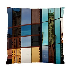 Glass Facade Colorful Architecture Standard Cushion Case (Two Sides)