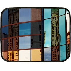 Glass Facade Colorful Architecture Double Sided Fleece Blanket (Mini)