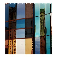 Glass Facade Colorful Architecture Shower Curtain 66  x 72  (Large)