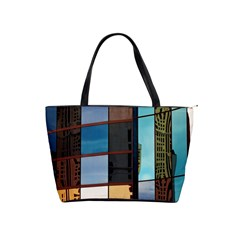 Glass Facade Colorful Architecture Shoulder Handbags