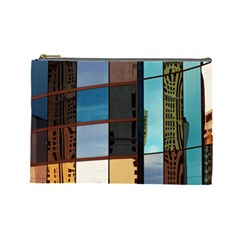 Glass Facade Colorful Architecture Cosmetic Bag (Large)