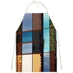 Glass Facade Colorful Architecture Full Print Aprons