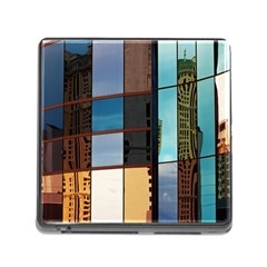 Glass Facade Colorful Architecture Memory Card Reader (Square)