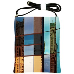 Glass Facade Colorful Architecture Shoulder Sling Bags