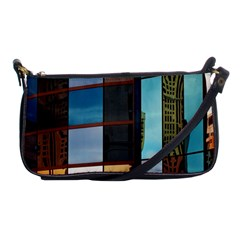 Glass Facade Colorful Architecture Shoulder Clutch Bags