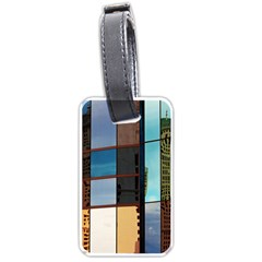 Glass Facade Colorful Architecture Luggage Tags (Two Sides)