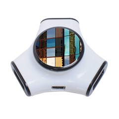 Glass Facade Colorful Architecture 3-Port USB Hub