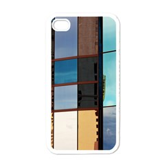 Glass Facade Colorful Architecture Apple iPhone 4 Case (White)