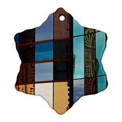 Glass Facade Colorful Architecture Snowflake Ornament (two Sides)