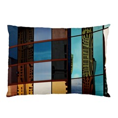 Glass Facade Colorful Architecture Pillow Case (Two Sides)
