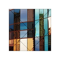 Glass Facade Colorful Architecture Acrylic Tangram Puzzle (4  x 4 )