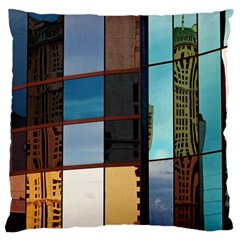 Glass Facade Colorful Architecture Large Cushion Case (one Side)