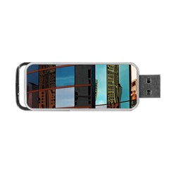 Glass Facade Colorful Architecture Portable USB Flash (Two Sides)