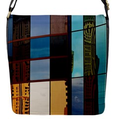 Glass Facade Colorful Architecture Flap Messenger Bag (S)