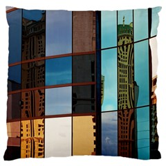 Glass Facade Colorful Architecture Large Flano Cushion Case (One Side)