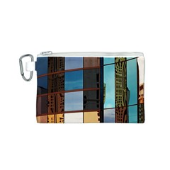 Glass Facade Colorful Architecture Canvas Cosmetic Bag (S)