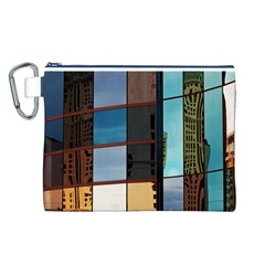Glass Facade Colorful Architecture Canvas Cosmetic Bag (L)