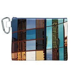 Glass Facade Colorful Architecture Canvas Cosmetic Bag (xl)