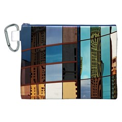 Glass Facade Colorful Architecture Canvas Cosmetic Bag (xxl)