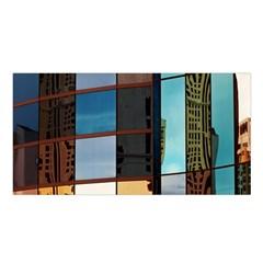 Glass Facade Colorful Architecture Satin Shawl