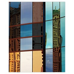 Glass Facade Colorful Architecture Drawstring Bag (Small)