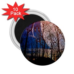 Full Moon Forest Night Darkness 2.25  Magnets (10 pack)