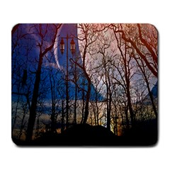 Full Moon Forest Night Darkness Large Mousepads