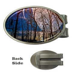 Full Moon Forest Night Darkness Money Clips (Oval)