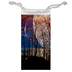 Full Moon Forest Night Darkness Jewelry Bag