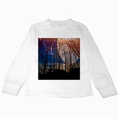 Full Moon Forest Night Darkness Kids Long Sleeve T-Shirts
