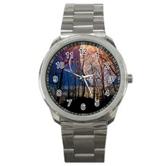 Full Moon Forest Night Darkness Sport Metal Watch