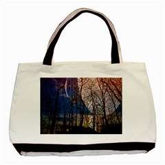 Full Moon Forest Night Darkness Basic Tote Bag (Two Sides)