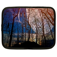 Full Moon Forest Night Darkness Netbook Case (Large)