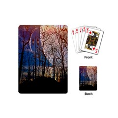 Full Moon Forest Night Darkness Playing Cards (Mini)