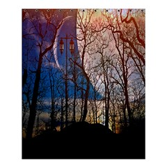 Full Moon Forest Night Darkness Shower Curtain 60  x 72  (Medium)