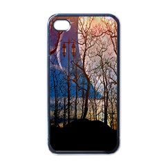 Full Moon Forest Night Darkness Apple Iphone 4 Case (black)