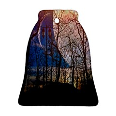 Full Moon Forest Night Darkness Bell Ornament (Two Sides)