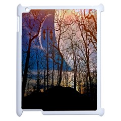 Full Moon Forest Night Darkness Apple iPad 2 Case (White)