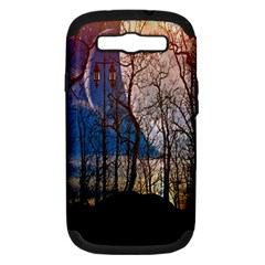 Full Moon Forest Night Darkness Samsung Galaxy S Iii Hardshell Case (pc+silicone)