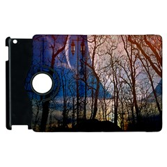Full Moon Forest Night Darkness Apple Ipad 3/4 Flip 360 Case