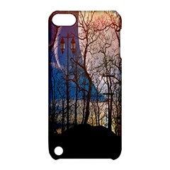 Full Moon Forest Night Darkness Apple Ipod Touch 5 Hardshell Case With Stand