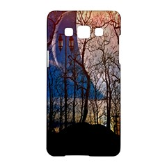 Full Moon Forest Night Darkness Samsung Galaxy A5 Hardshell Case