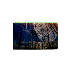 Full Moon Forest Night Darkness Cosmetic Bag (xs)