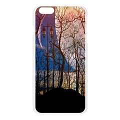 Full Moon Forest Night Darkness Apple Seamless iPhone 6 Plus/6S Plus Case (Transparent)