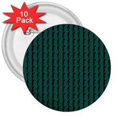 Golf Golfer Background Silhouette 3  Buttons (10 Pack)