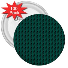 Golf Golfer Background Silhouette 3  Buttons (100 Pack)